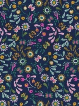 tissu-coton-bio-popeline-jardin-lucioles